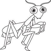 Monochrome clipart insect #10