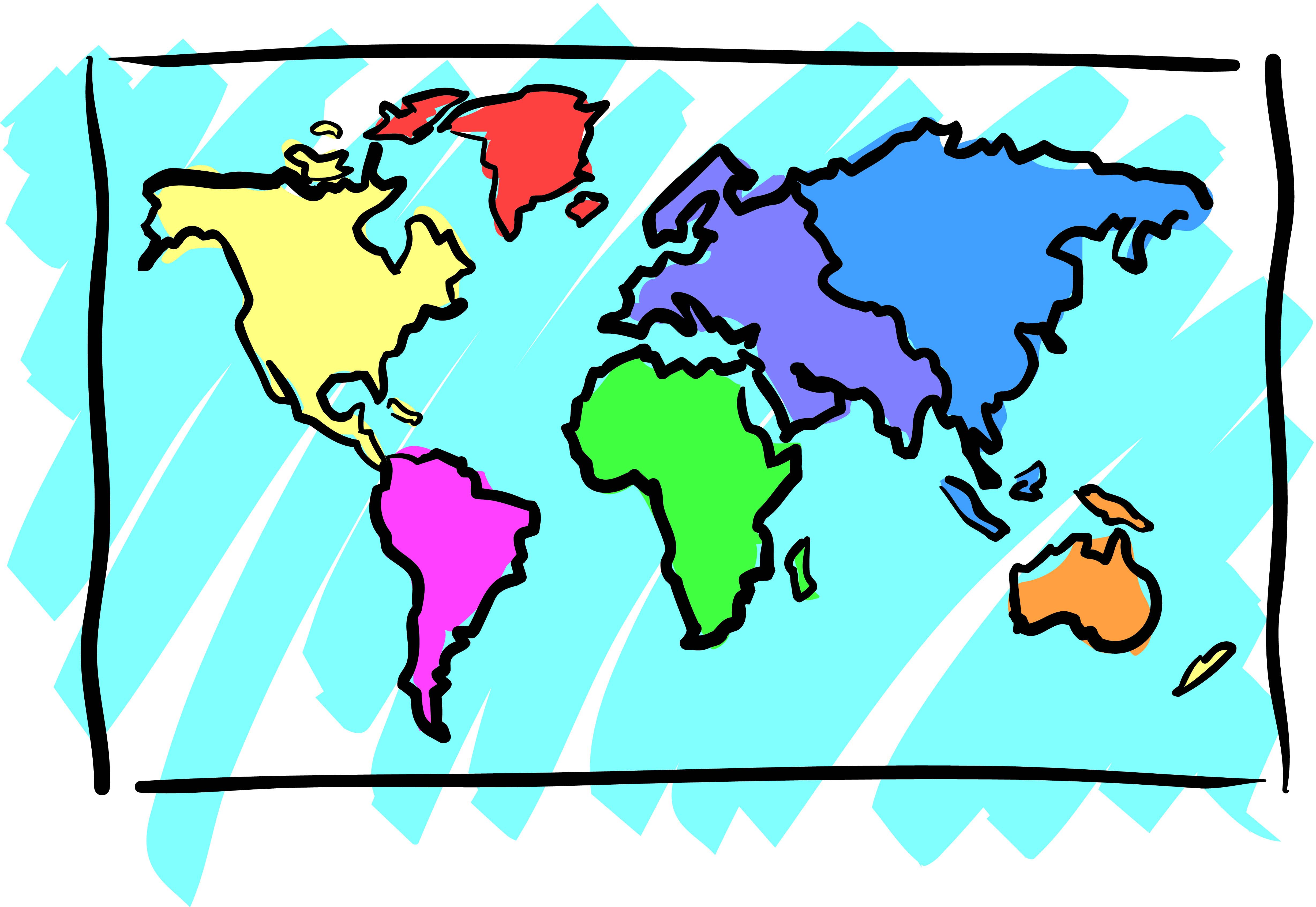 Continent clipart world atlas Map collection Map world of