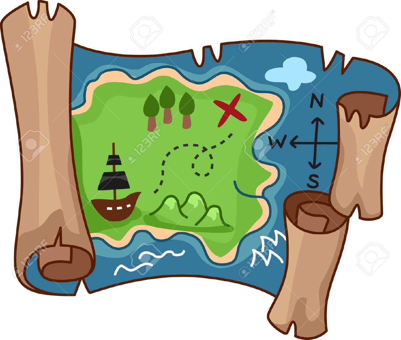 Map clipart Clipartix clip scroll map clipart