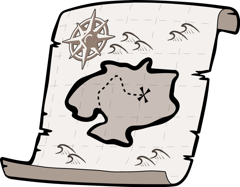 Treasure clipart treasure map Free images clipart clipartcow 2