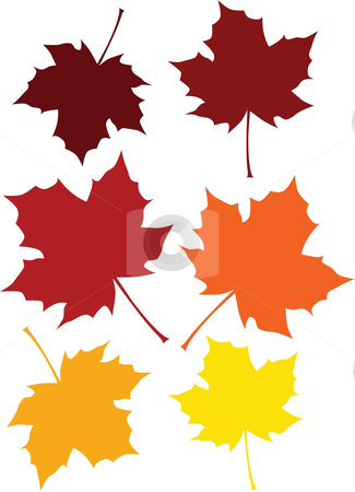 Leaves clipart colored #4