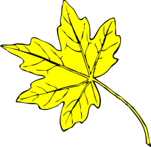 Leaves clipart yellow leaf #4