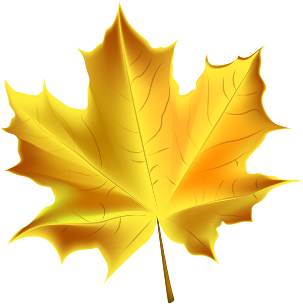 Leaves clipart yellow leaf #6