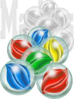 Marbles clipart nine Free Marble Marbles greeting art