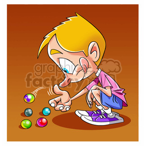 Marbles clipart boy Boy marbles nino playing of