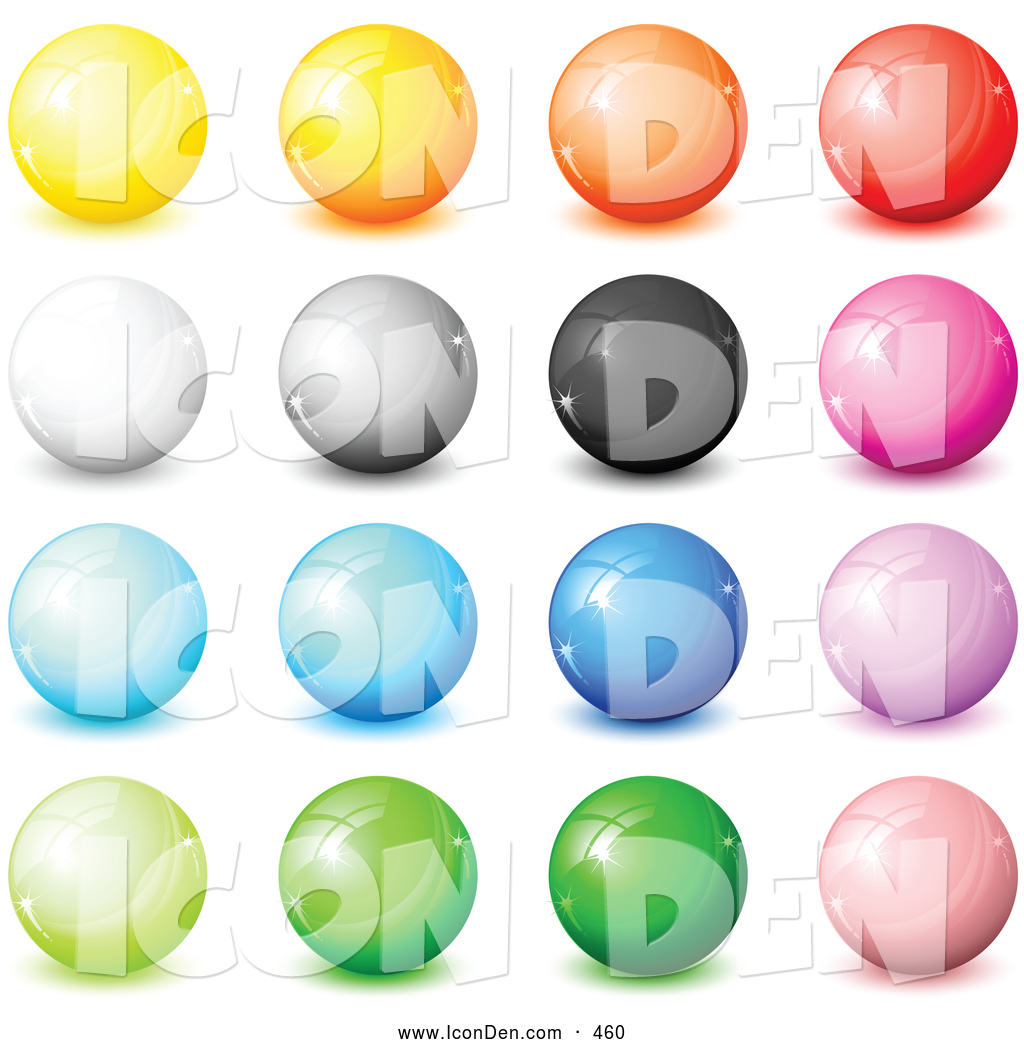 Marbles clipart button Art Yellow Red Gray