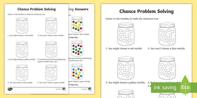 Marbles clipart chance Activity Year Activity Solving Problem