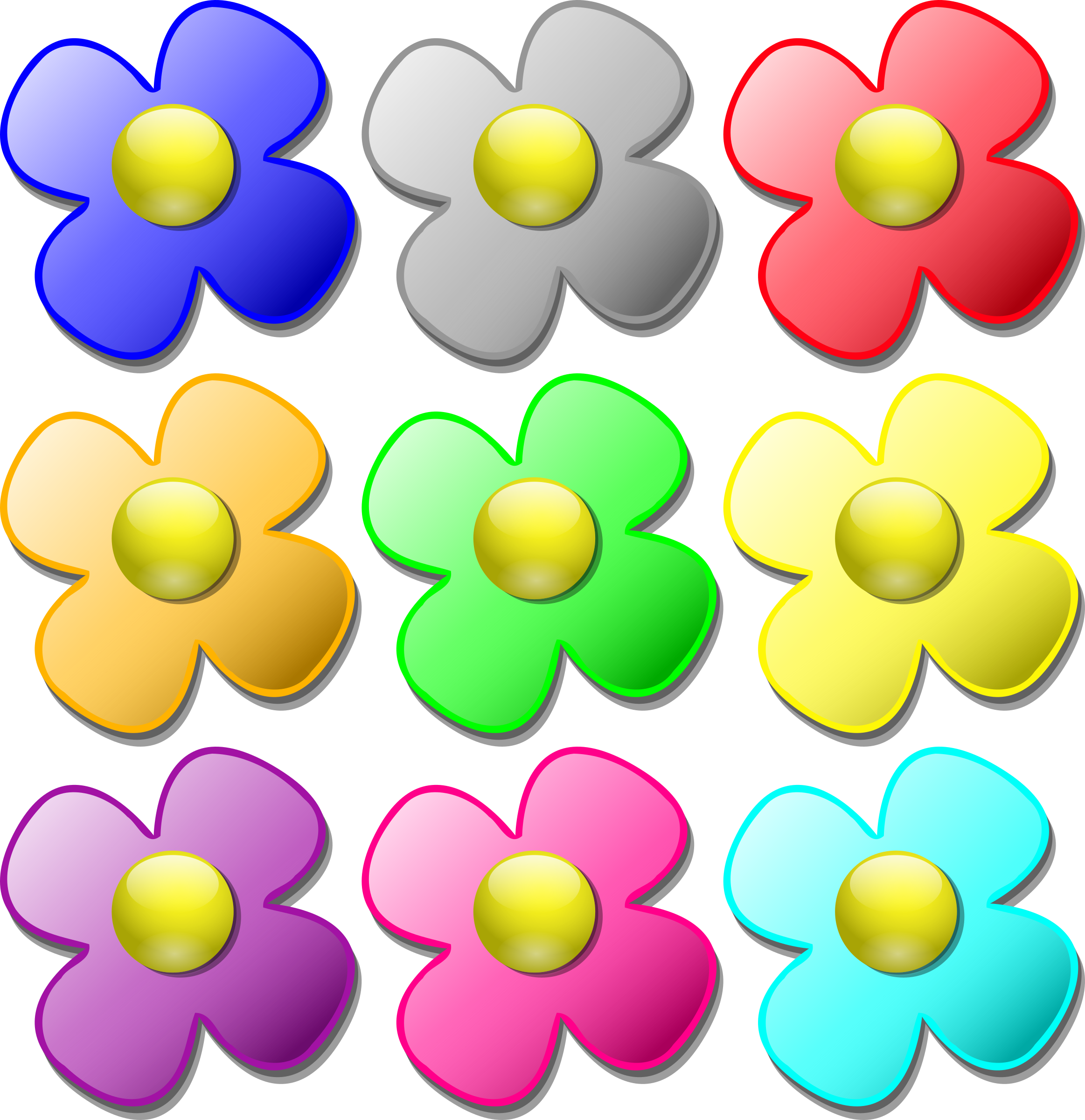 Color clipart colourful flower Marbles marbles Clipart flowers flowers