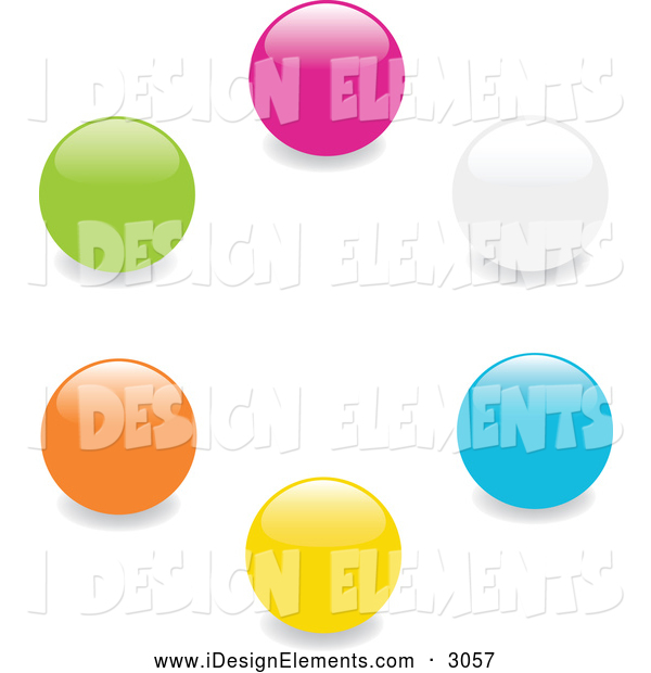 Marbles clipart green And Art Set a Orange