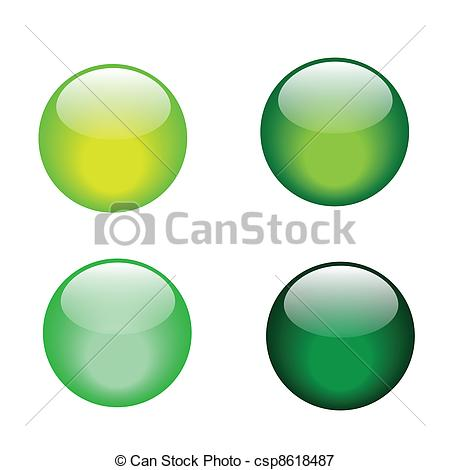 Marbles clipart green Green marble Vector  glass