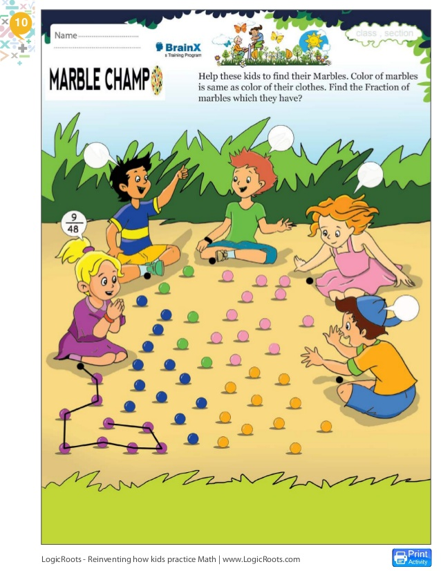 Marble clipart math game Practice more 11 Froggy Fractions