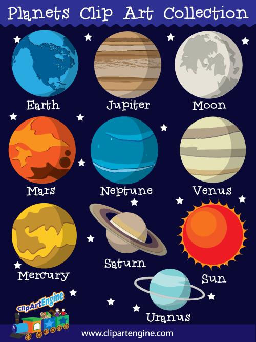 Planet clipart colored Planets Clip Clipart 62 Art
