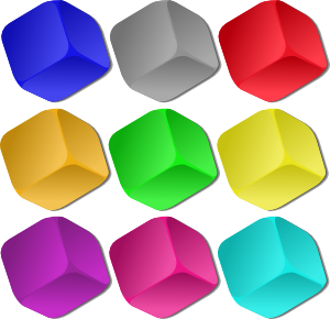 Marbles clipart nine Clip Cubes Marbles at