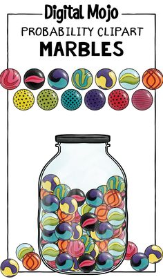 Marble clipart math game Numbers 1 – Decorative Font