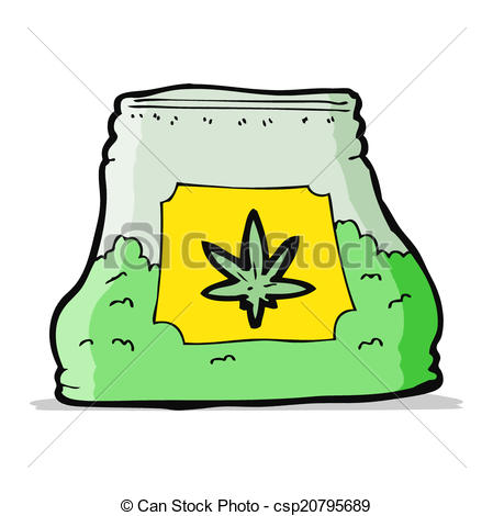 Weed clipart cartoon Bag of cartoon csp20795689 of