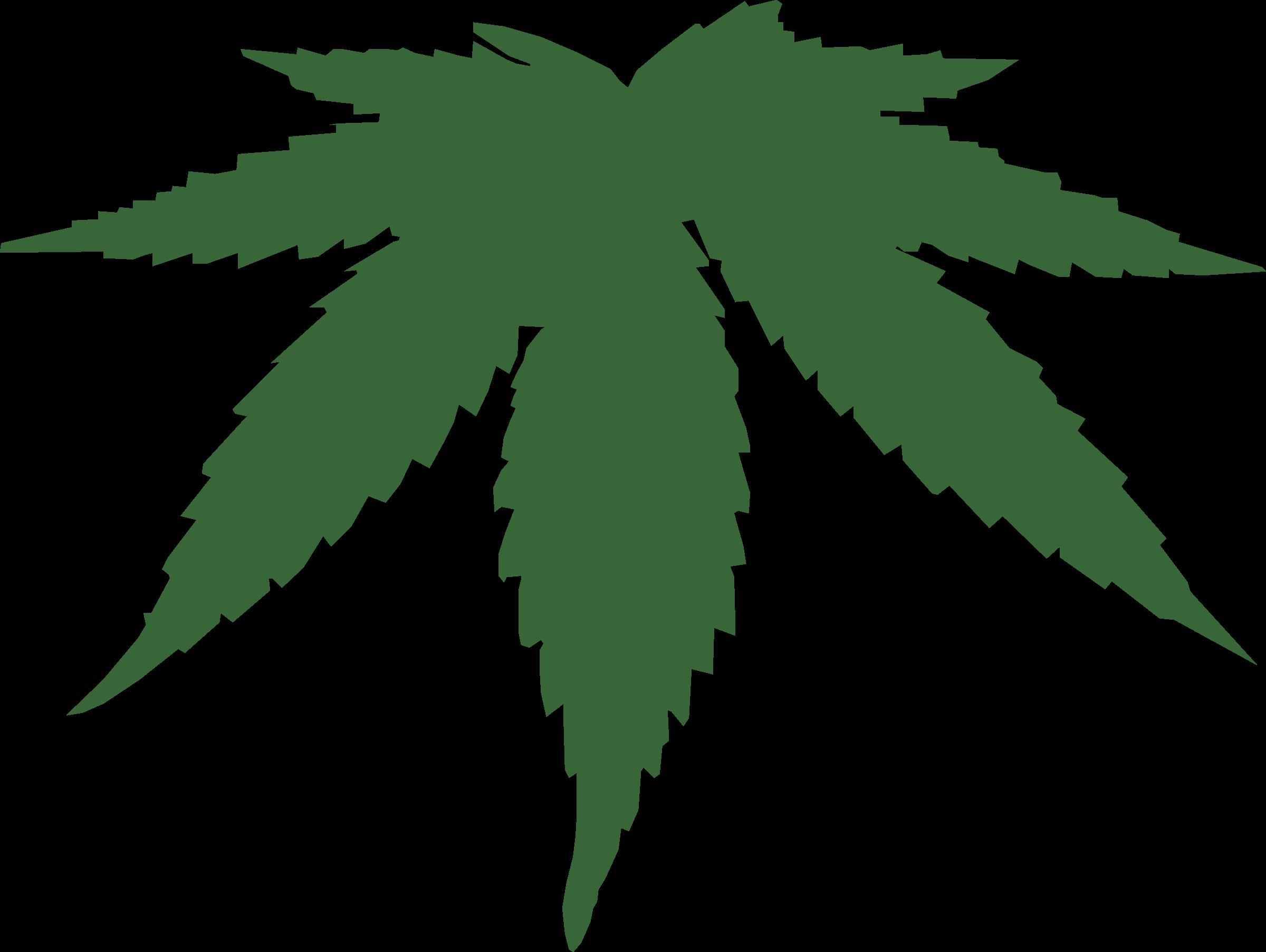 Drawn pot plant leaf silhouette Cannabis Clipart leaf cannabis leaf