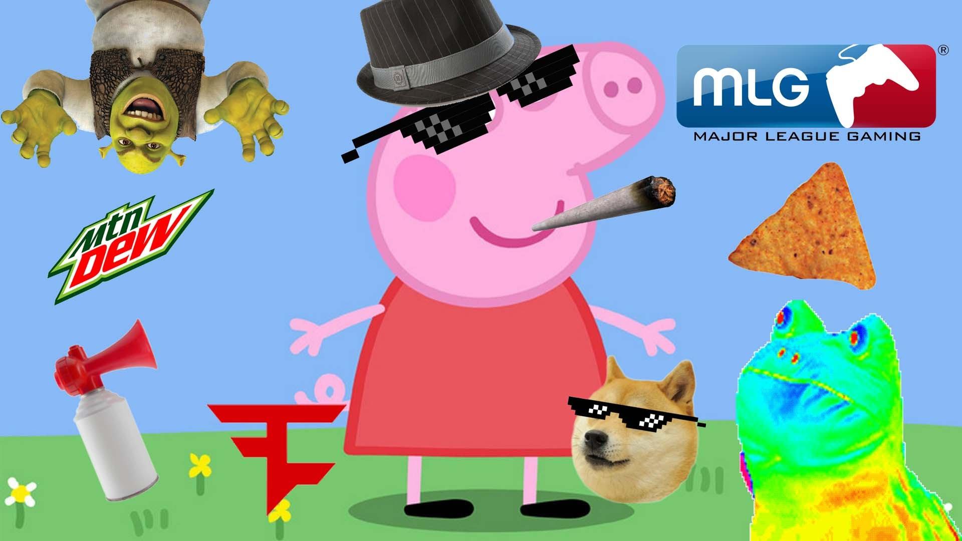 Weed clipart mlg MLG Pig Peppa Weed Peppa