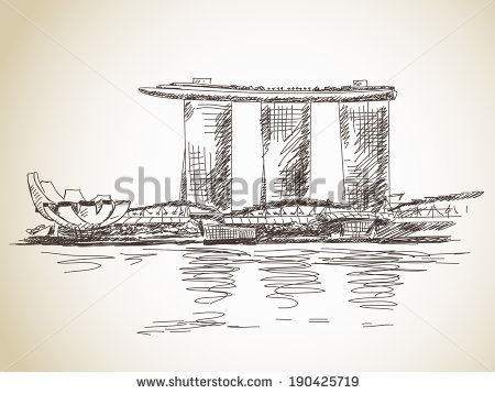 Marina Bay Sands clipart merlion #2