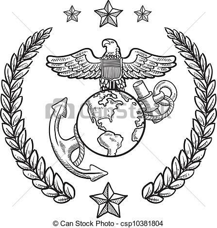 Marine clipart insignia Style Vector csp10381804 Marine Clipart