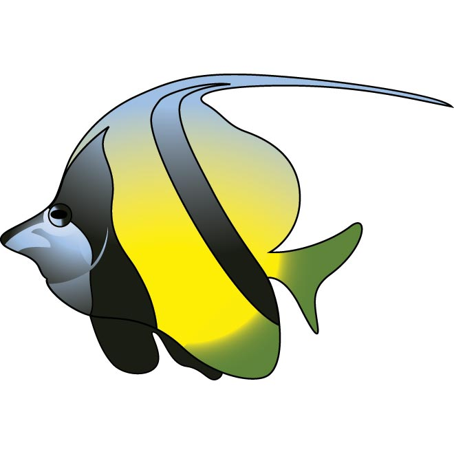Tropical Fish clipart butterfly fish #2