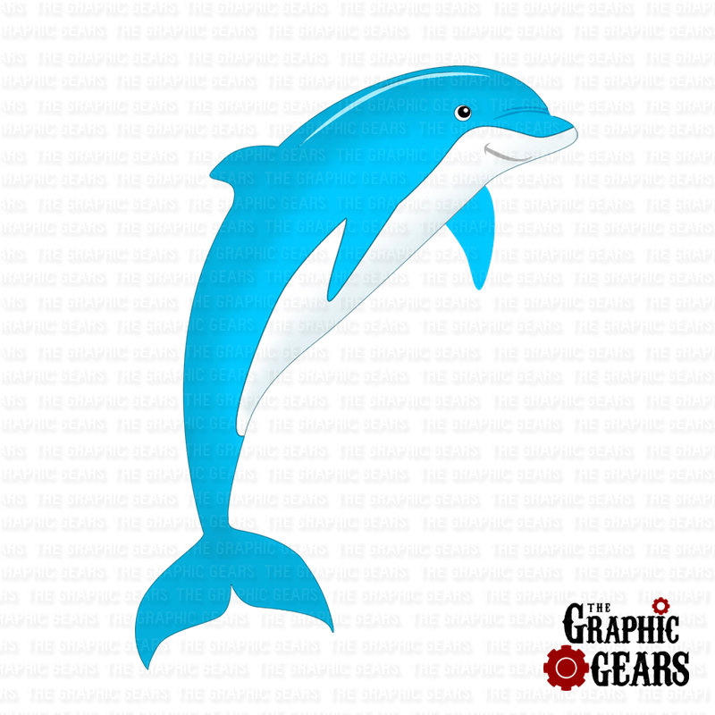 Marine Life clipart baby dolphin And White Art Dolphin Free