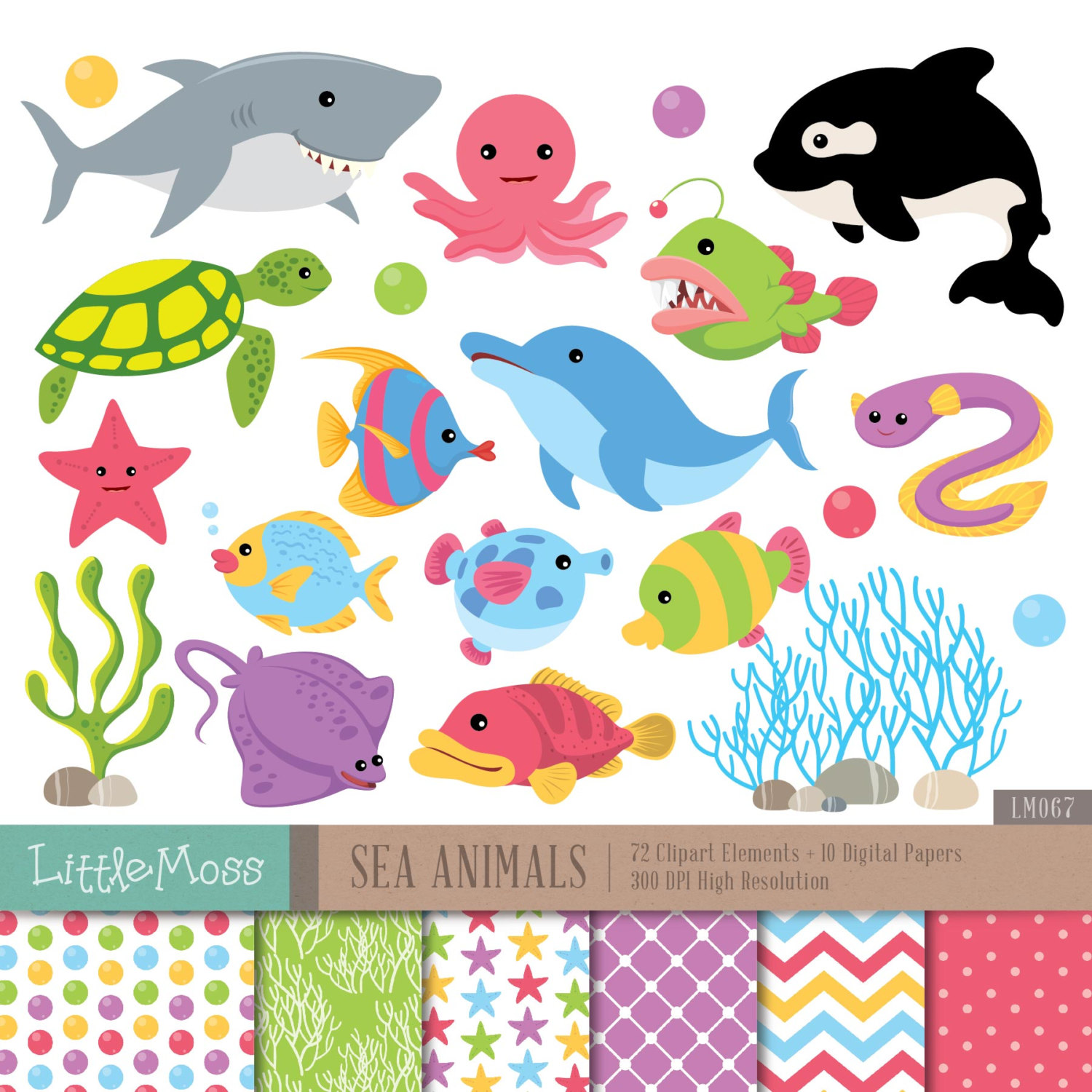 The Sea clipart coral The Clipart Whale Digital Sea