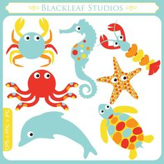 Marine Life clipart baby dolphin Crab to horse logos tortoise