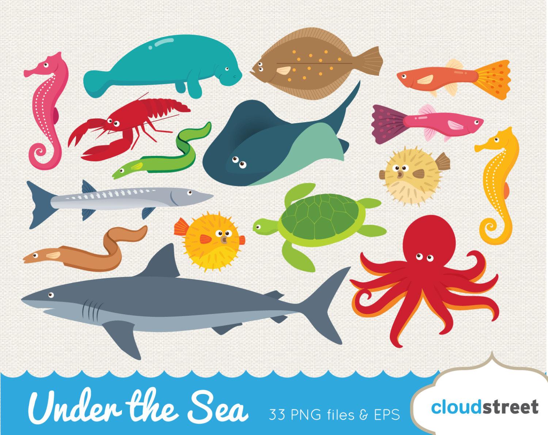 The Sea clipart sea creature Etsy creatures clipart the shark