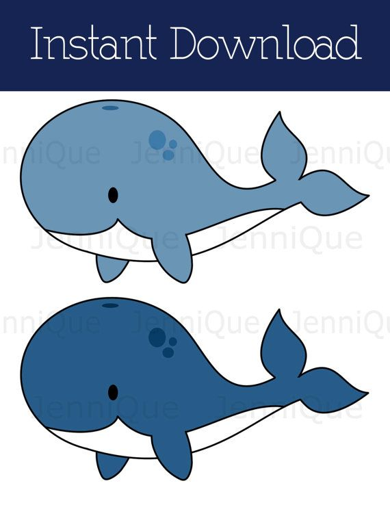 Seafood clipart baby shower whale Printable on Best Shower by
