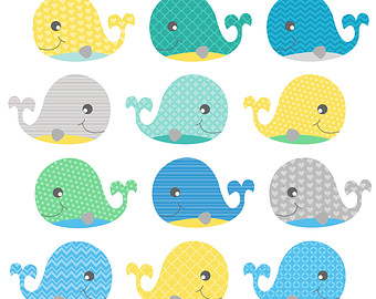 The Sea clipart baby shower whale Art whale clip Clipart Whale