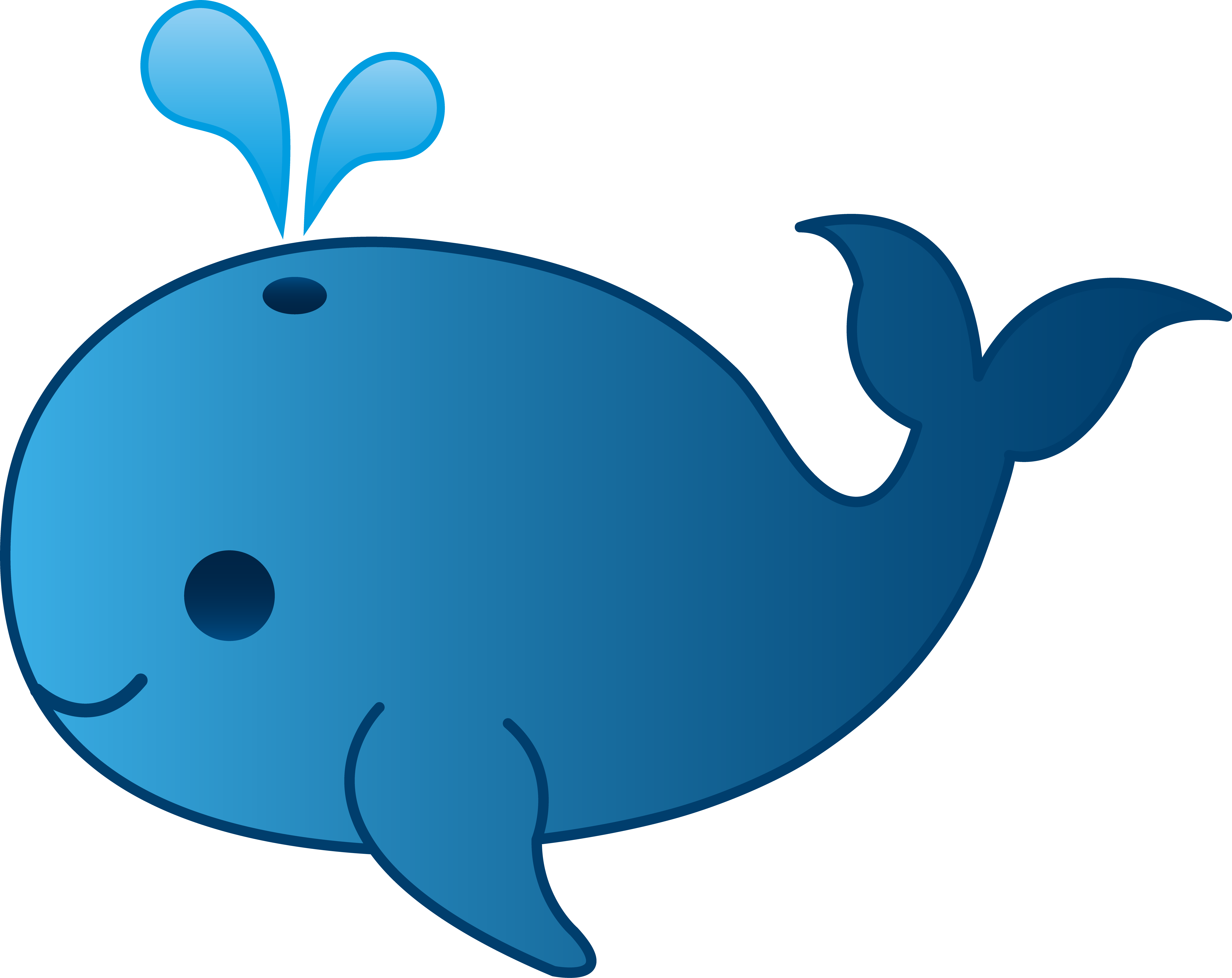 Blue Whale clipart beluga whale Cartoon Pinterest Safari‿✿⁀•● · Art