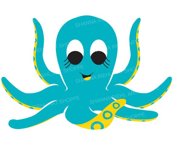 Animl clipart octopus #4