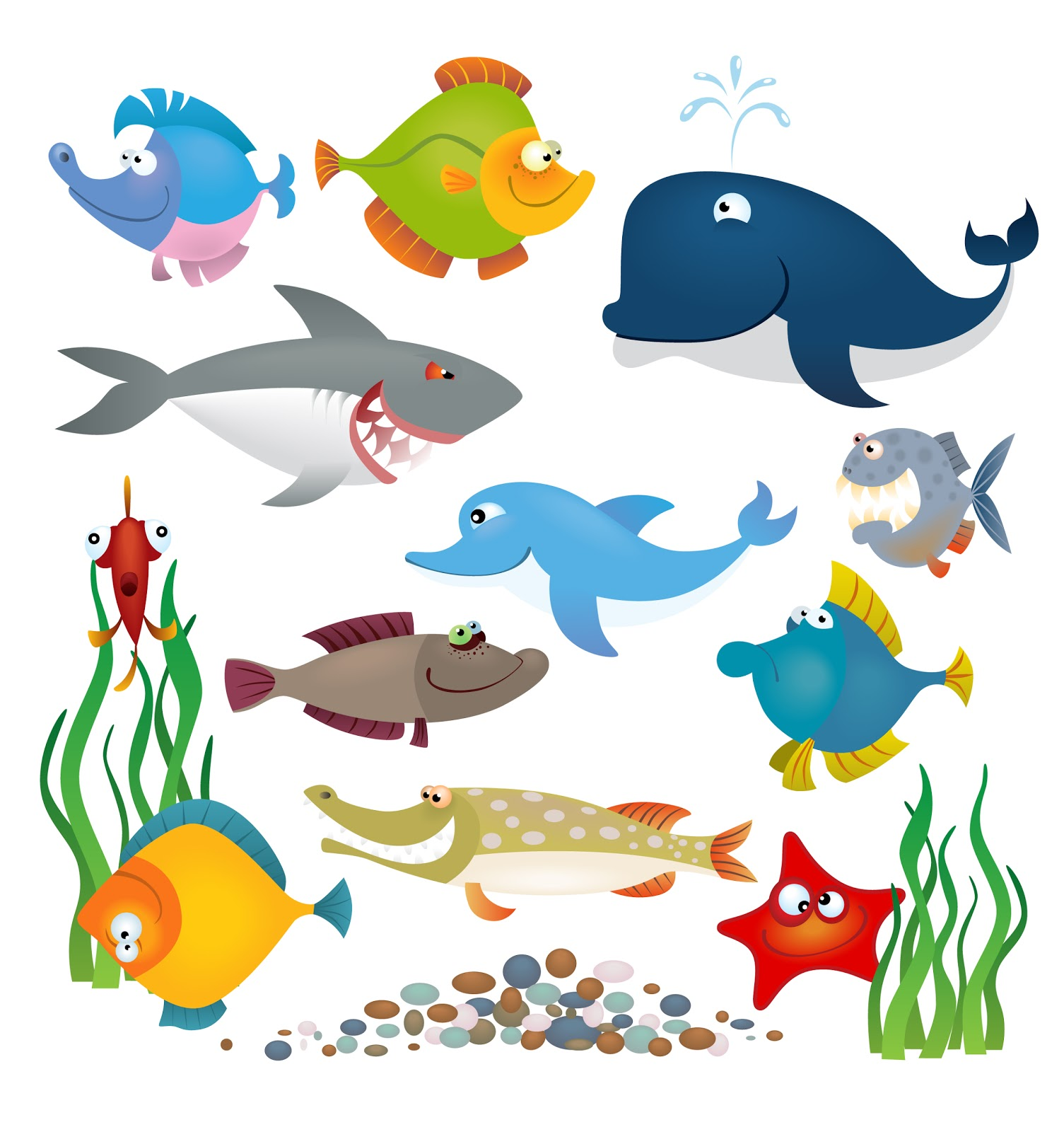 Marine Life clipart cartoon Life Clip life and creatures