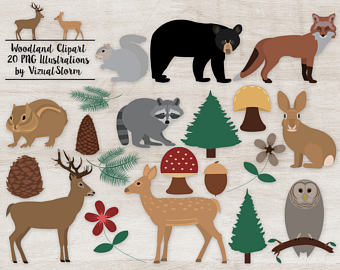Forest clipart plants and animal Graphics Animals Deer Flowers Plants