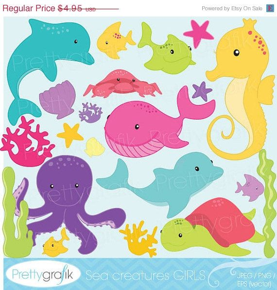 The Sea clipart sea creature Images digital images use best