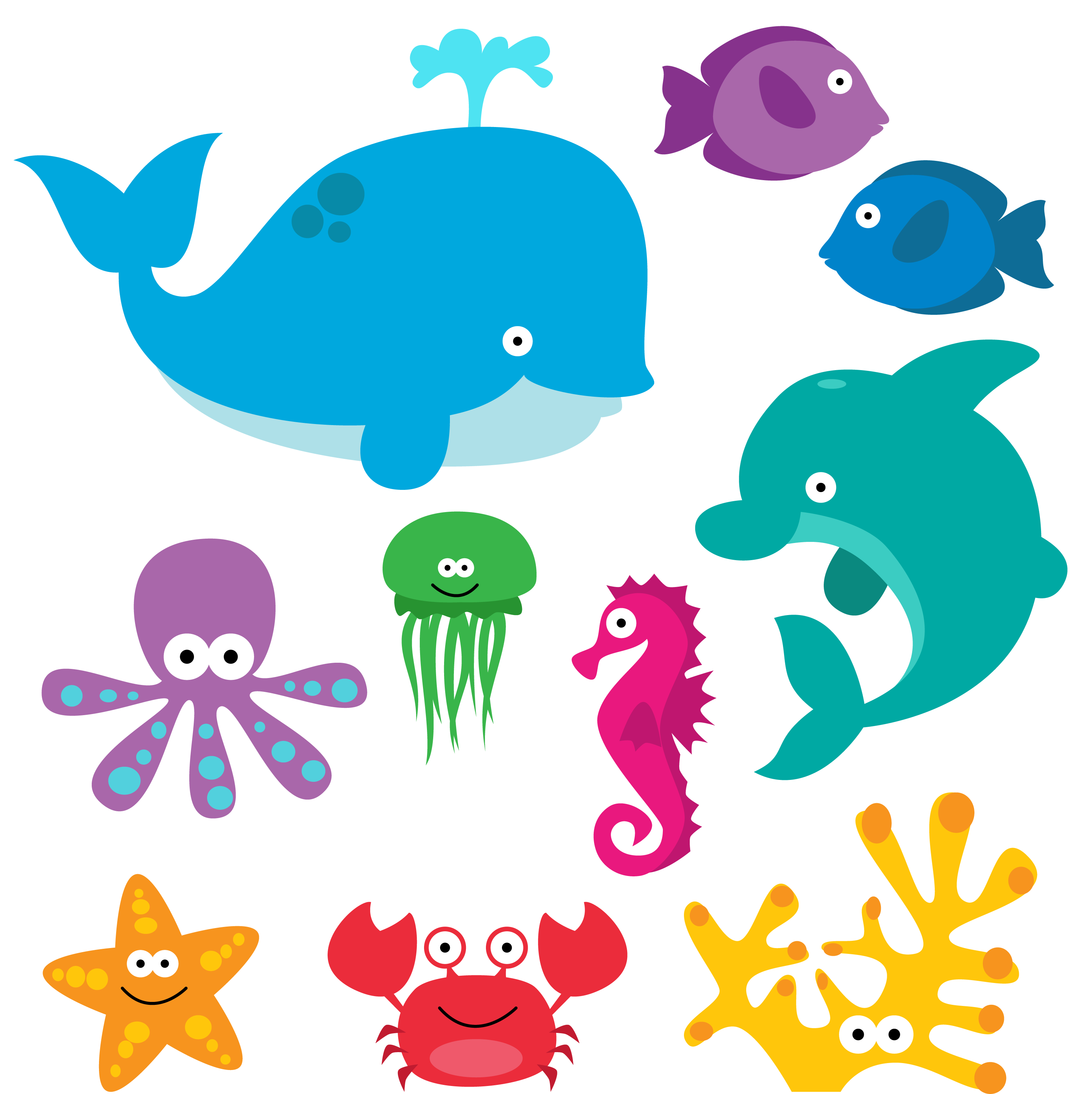 Marine clipart ocean animal #1