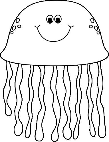 Marine Life clipart jellyfish White Black Jellyfish Images Life