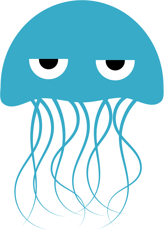 Marine Life clipart jellyfish Cute Jellyfish Clipart Panda Free