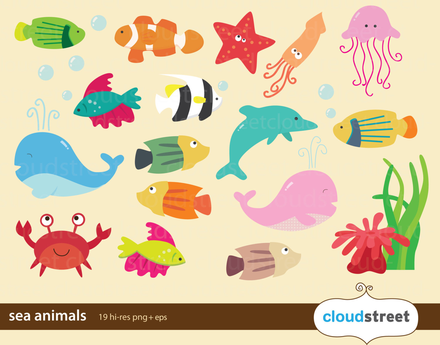 Marine clipart ocean animal #3