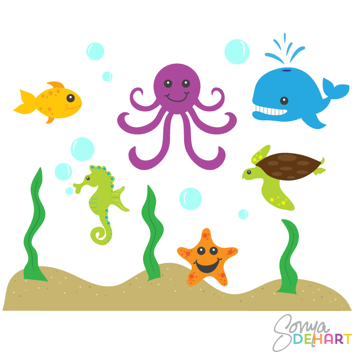 The Sea clipart sea animal Clipart of ocean Google+ and