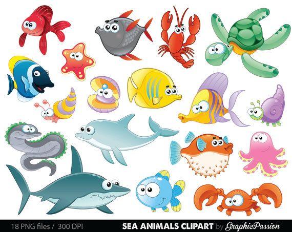 The Sea clipart aquarium animal Creatures Sea Under the Art