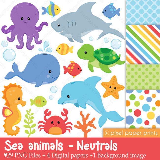 Marine Life clipart sea creature NEUTRALS Sea and this animals