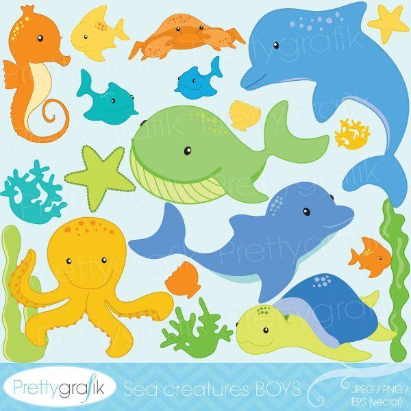 Marine Life clipart sea creature Themed Sea classroom images classroom