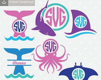Marine Life clipart sea creature Cutting Sea Life Ocean Creatures