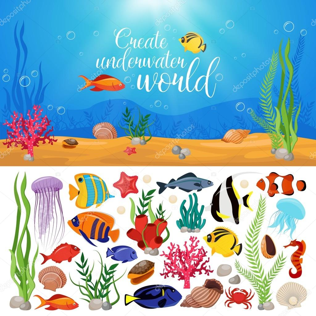 Marine Life clipart sea plant Sea Animals title — underwater