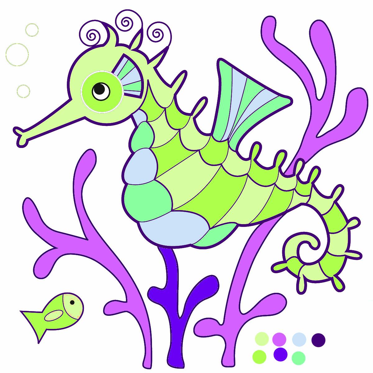 Sea Life clipart seahorse #6