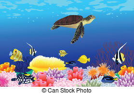Marine Life clipart sealife Sealife Art Beautiful Stock