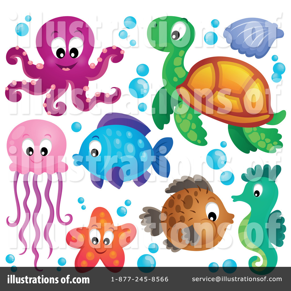 Marine Life clipart sealife Sea #1240299 Royalty Illustration Clipart