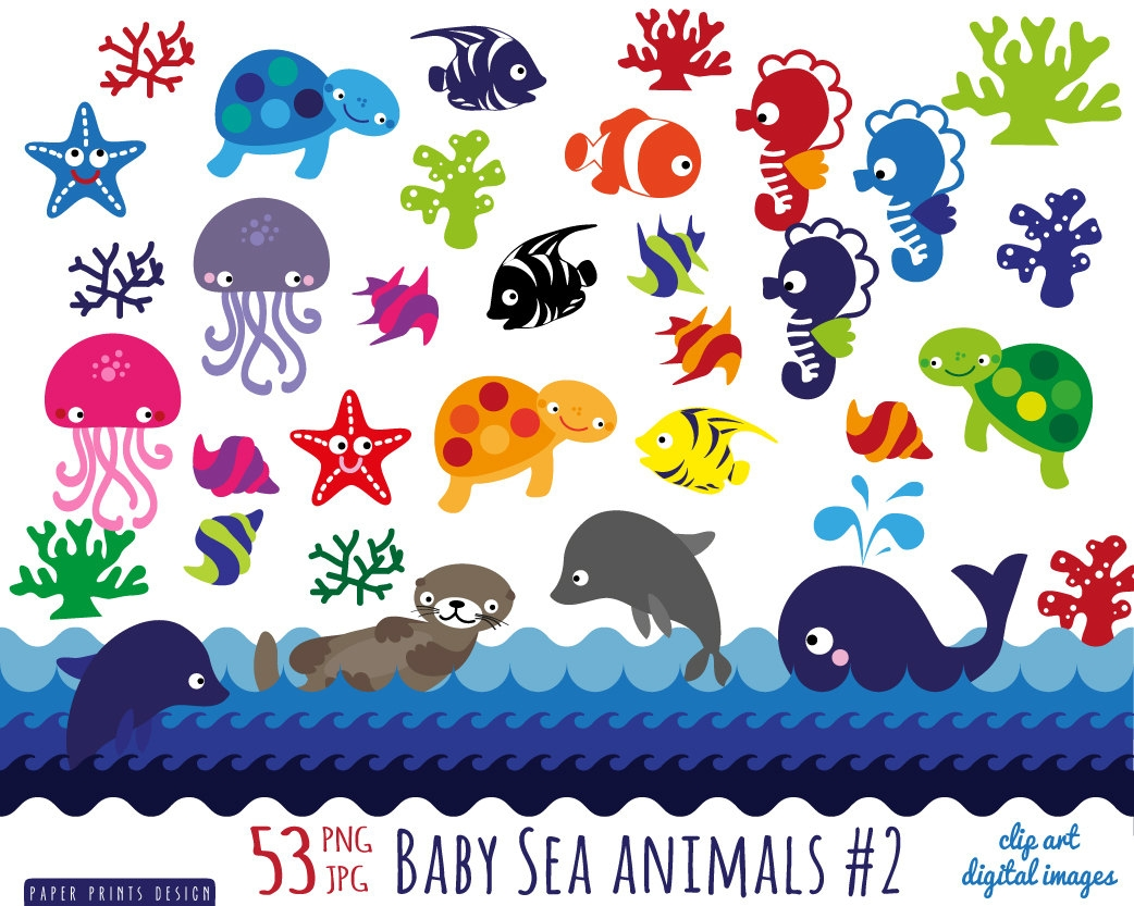 Marine clipart ocean animal #7