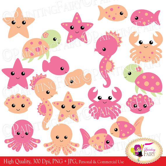 Sea Turtle clipart pink #3